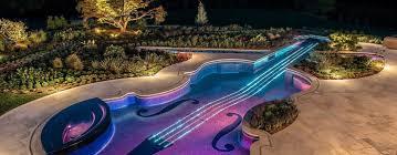 Music Themed Violin Inground Pool, Bedford, NY | Inground Pool Lights