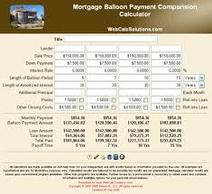 Baloon Payment Calculator Mortgage Balloon Payment Comparison Calculator
