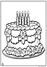 Small Picture Birthday cake coloring pages free