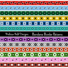 Border Patterns Delectable Bandana Border Patterns Clipart By Scrapster By Melissa Held Designs