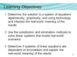 systems of linear equations section 2 4 2 2 learning objectives 1 determine the solution