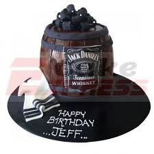 Ghaziabad Special Online Jack Daniels Themed Fondant Cake Delivery