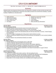 Best Security Officers Resume Example Livecareer