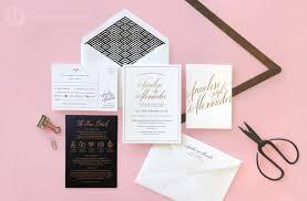 Black And White Invitation Paper Yesterday Creative Letterpress Wedding Invitations