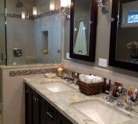 bathroom recessed lighting ideas espresso. hall closet design ideas bathroom craftsman with espresso stain shell tile laundry shoot recessed lighting o