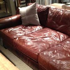 extra deep leather couch heart restoration hardware feels like a worn comfy baseball mitt sofa sectional