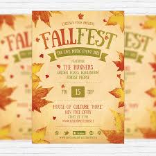 Fall Festival Flyer Template Printable Flyers In Word | Fall ...