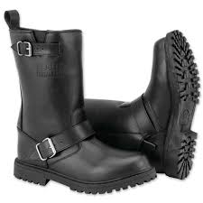 black brand men s thug black leather boots