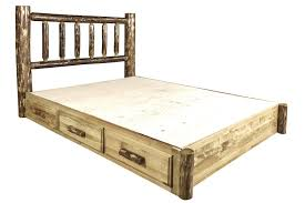 rustic platform beds with storage. Brilliant Platform Amazoncom Montana Woodworks MWGCSBPQ Glacier Country Collection Queen Platform  Bed With Storage Kitchen U0026 Dining To Rustic Beds With Storage
