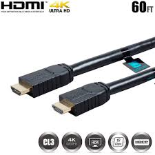 details about 60ft hdmi cable cord active 4k 60hz uhd hdr hdcp 2 2 18gbps cl3 in wall 24awg