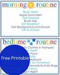 Free Printable Morning And Evening Routine Chart My Frugal