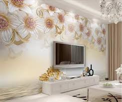 <b>beibehang Custom wallpaper 3d</b> photo mural stereo jewelry flower ...