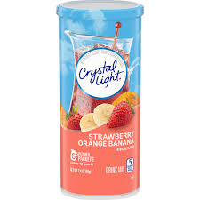 Crystal Light Chewy Candy 36 Pitcher Packs Crystal Light Strawberry Orange Banana Drink Mix 2 4 Oz Walmart Com