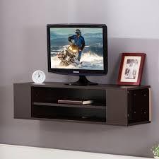 wooden floating wall mount tv stand entertainment center dvd media shelves for