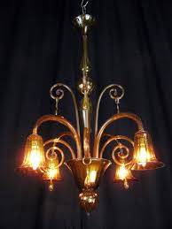 1930s venetian murano glass chandelier a charming italian murano antique chandelier in amber color blown