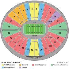Rose Bowl Seating Chart Fsu V Oregon Go Noles Rose Bowl