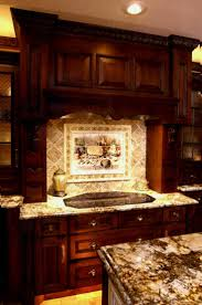 simple travertine images of kitchen backsplash mural with dark wood cabinets travertine best countertops on ideas tile i