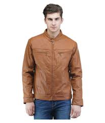 be beu brown leather jacket