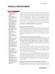 Oracle Irec Datasheet Recruitment Oracle Corporation