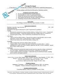 Laboratory Technician Resume Sample Medical La Sevte