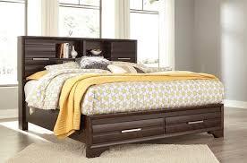 andriel dark brown king storage bed