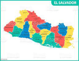 Vetores de O Mapa Detalhado De El Salvador Com Regiões Ou Estados E Cidades  Capital Divisão Administrativa e mais imagens de Bandeira - iStock