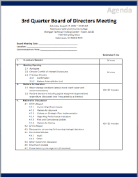 Sample Agenda For Board Meetings Rome Fontanacountryinn Com
