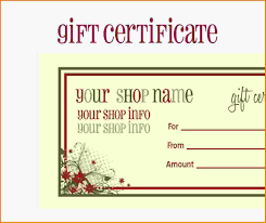 Personalized Gift Certificates Template Free Fresh Personalized Gift Certificates Template Free Template Examples 1