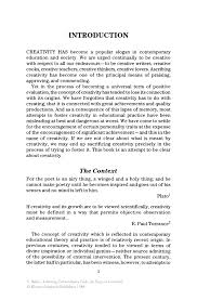 creativity essay achieving extraordinary ends an essay on creativity