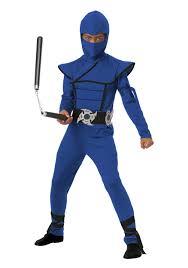 Ninja Suit Size Chart Child Blue Stealth Ninja Costume