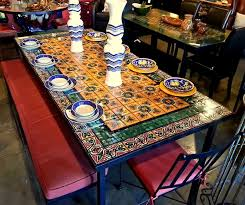 talavera tile coffee table