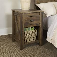 Better Homes and Gardens Falls Creek Side Table/Night Stand, Weathered Dark  Pine