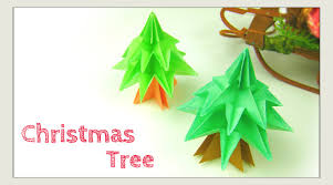 Paper Crafts For Christmas Christmas Crafts Origami Tree Modular Christmas Tree Paper