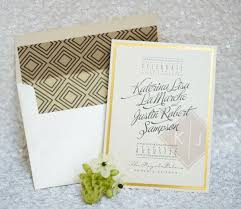lined envelopes for wedding invitations weddbook Wedding Invitations Kitchener Ontario above, a silver chevron gives this modern invitation a jaunty touch below, this gold and black pattern on the envelope liner hints at an art deco affair Downtown Kitchener Ontario