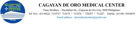 Cagayan De Oro Medical Center Inc From Northern Mindanao Is Looking ...