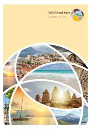 Travel Brochure Cover Design Travel Collage Can Be Used For Cover Stock Image