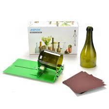 agptek long glass bottle cutter machine cutting tool for wine bottles suit for long bottle green