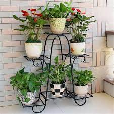 3 tier herb plant stand iron 5 pots