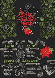 Christmas Restaurant Brochure Menu Template Holiday Background