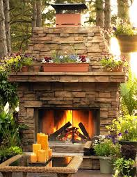 outdoor stone fireplaces outdoor sierra stacked stone fireplace surround with natural gas logs