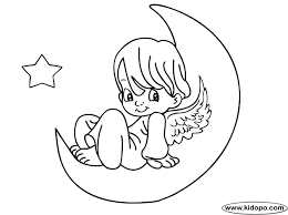 Small Picture moon coloring pages Angel moon coloring page Art Ink