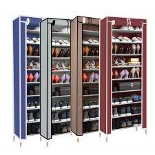 shoe storage furniture. stackable shoe cabinet 10 tier single column dust cover rack with side pocket 4 storage furniture