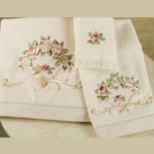 Decorative Bathroom Towels Sets Rosefan Embroidered Bath Towels