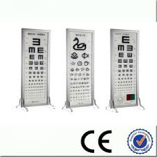 Distance Visual Acuity Chart China Ophthalmic Eye Sight Test Led Distance Visual Acuity