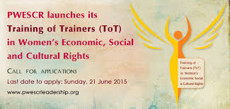 PWESCR's Training of Trainers (ToT) in Women's Economic, Social and  Cultural Rights » African Feminist Forum