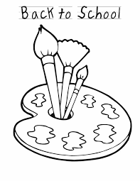 Back To School Coloring Pages Paintbrushes 001 Free Coloring Pages