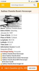 Subhas Chandra Bose Birth Chart Tweeted This Day Last Year I Wonder If Some Palm Reader Can