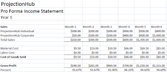 Profit Projections Template Profit Projection Template Magdalene Project Org