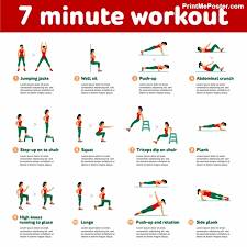 poster of 7 minute workout poster of dumbbell exercises and workouts weight