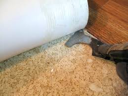 how to remove vinyl flooring adhesive from concrete removing vinyl flooring a power ser makes this